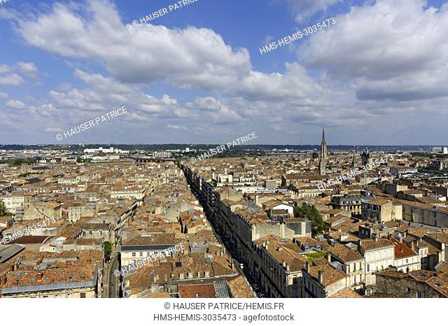 France, Gironde, Bordeaux, area listed as World Heritage by UNESCO, general view