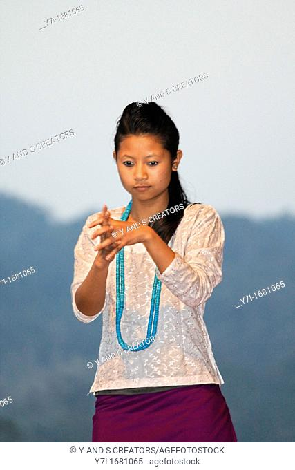 Traditional Dance of Apatani tribes during Namdapha Eco Cultural Festival, Miao, Arunachal Pradesh, India