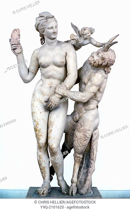 Classical Statue of Aphrodite Pan & Eros c100BC from Delos Greece