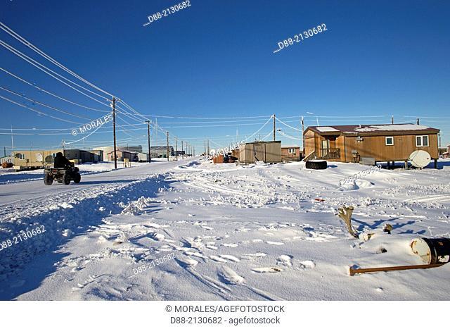 United States,Alaska,Arctic National Wildlife Refuge,Kaktovik,village,