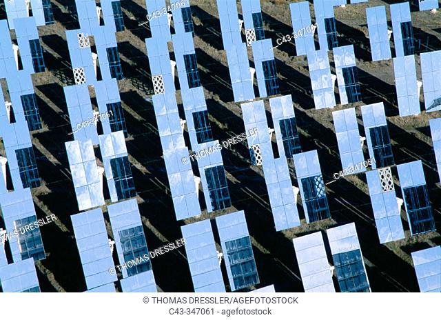 Solar power plant in Tabernas desert. Almería province, Andalusia, Spain