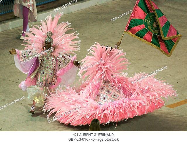 Carnival 2009, Giovana Standard-bearer, School of Samba Mangueira, Rio de Janeiro, Brazil