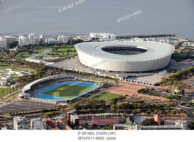 Cape Town Stadium (also known as Green Point Stadium), one of the stadiums used during the 2010 World Cup, Cape Town, South Africa