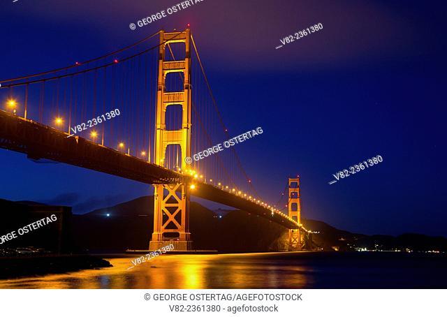 Golden Gate Bridge dusk, Golden Gate National Recreation Area, San Francisco, California