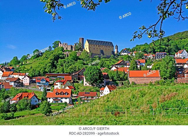 Castle Schwarzenfels, district Schwarzenfels, Sinntal, Hesse, Germany