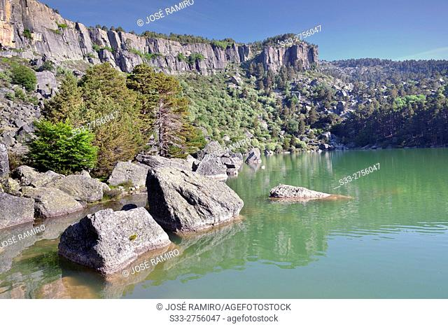 Black Lagoon in the Picos de Urbion. Soria. Castilla León. Spain. Europe