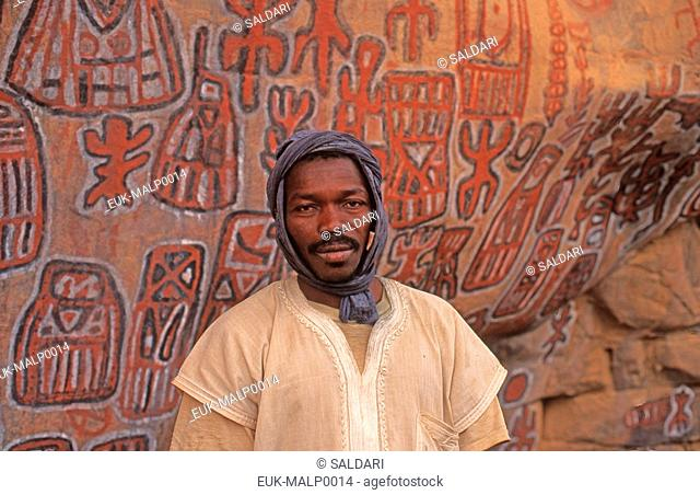 Portrait of a Malian,Dogon country Mali