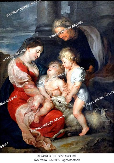 Peter Paulus Rubens 1577 — 1640. The Virgin and Child with Saint Elizabeth and Saint John the Baptist. 1618. Oil on canvas