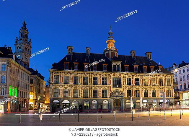 Old exchange, Place du General de Gaulle, Lille, Nord Pas de Calais, France