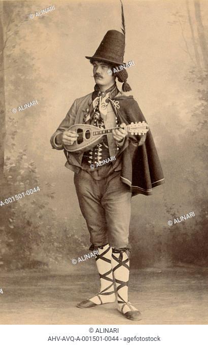 Reisebilder (Photo Travel) - Richard Schmidt : celebrations for the eight hundred years of the dynasty Wettin - actor in Italian costume