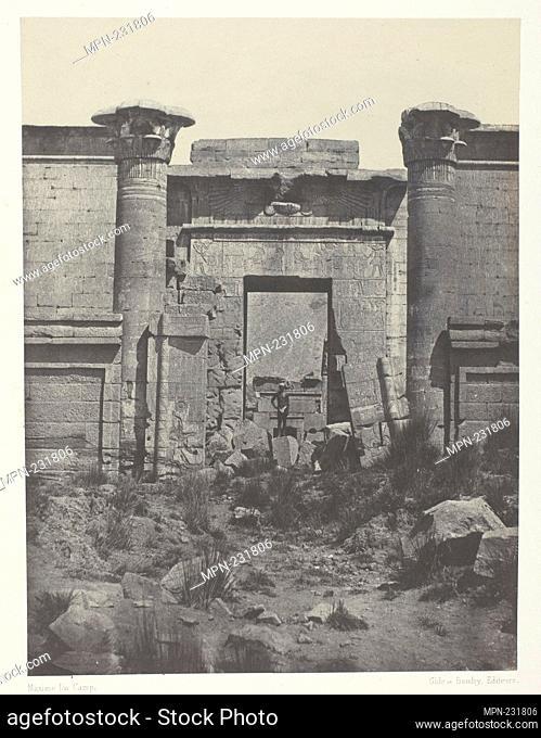 Médinet-Habou, Propylées du Thoutmoseum; Thèbes - 1849/51, printed 1852 - Maxime Du Camp French, 1822–1894 - Artist: Maxime Du Camp, Origin: France