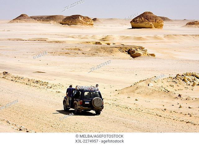4x4 in White desert. Egypt