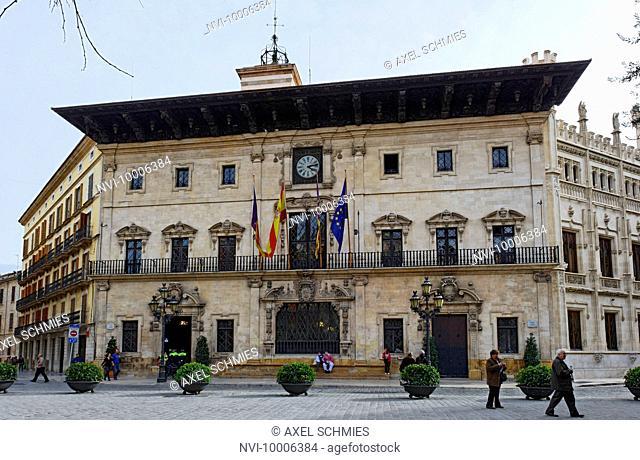 Old town hall, Old town of Palma, Plaza de Cort, Palma de Majorca, Majorca, Balearic Islands, Spain, Europe