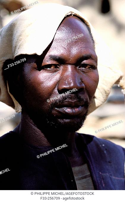 Dogon man. Sanga River region, Mali