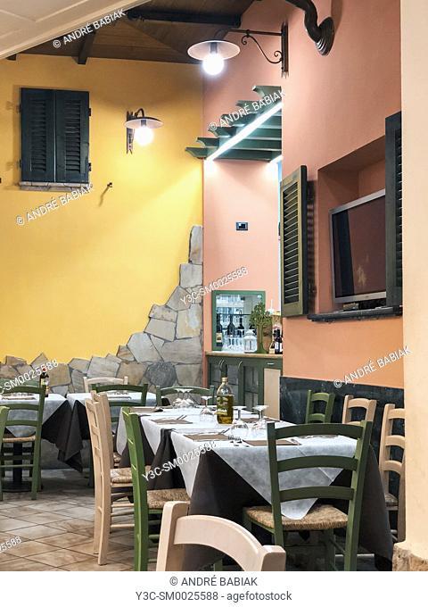 Restaurant setup Livorno, Italy