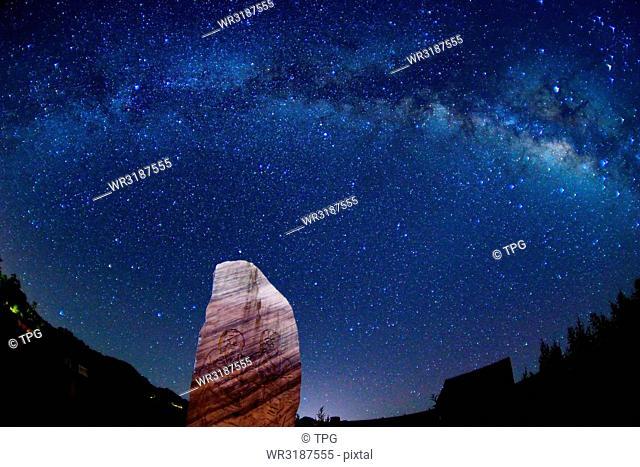 Starry Sky night at the kite peak observatory