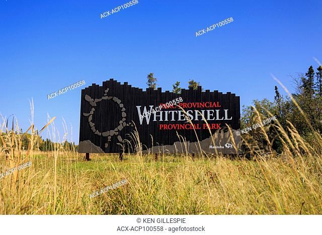 Whiteshell Provincial Park sign, Manitoba, Canada