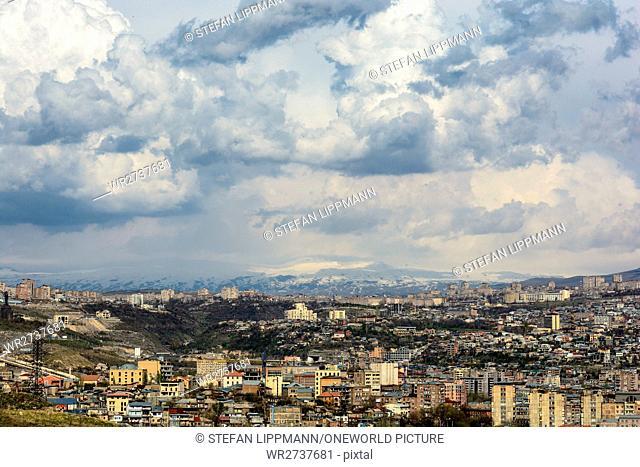 Armenia, Yerevan, Kentron, view of the city