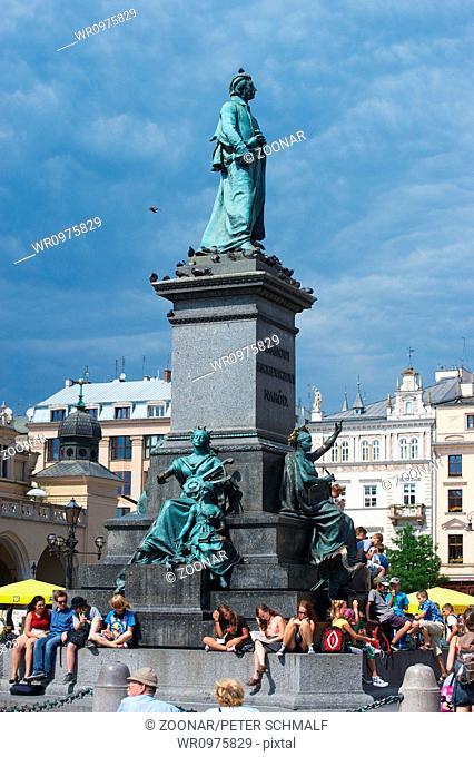 Adam Mickiewicz monument in Krakow