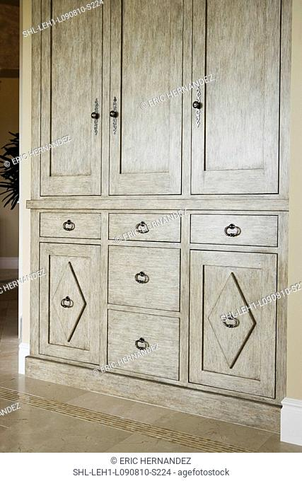 Contemporary built in cabinet