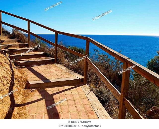 Popular summer travel destination the beach front of beautiful Campoamor Orihuela Coast Spain