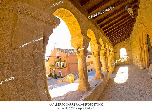 Church of San Miguel, 11th century Romanesque Style, Spanish National Heritage Site, San Esteban de Gormaz, Soria, Castilla y León, Spain, Europe