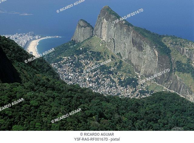 Rocinha Slum, São Conrado, Ipanema, Rio de Janeiro, Brazil