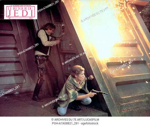 Star Wars: Episode VI - Return of the Jedi  Year: 1983 USA Harrison Ford, Carrie Fisher  Director: Richard Marquand. It is forbidden to reproduce the photograph...