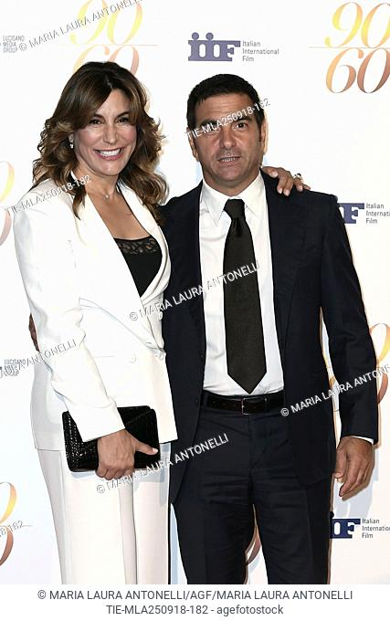 Jo Champa and brother Thomas J. Ciampa during red carpet of 60/90 party, for 60 years of career and ninetieth birthday of Fulvio Lucisano, Italian Film Producer