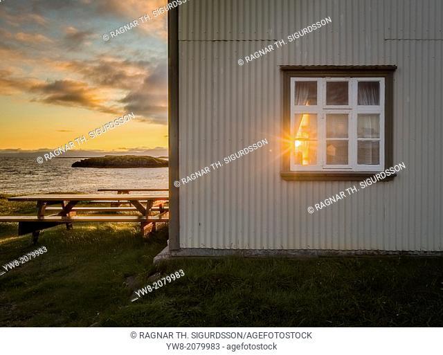 Sunset, Flatey Island, Borgarfjordur, Iceland