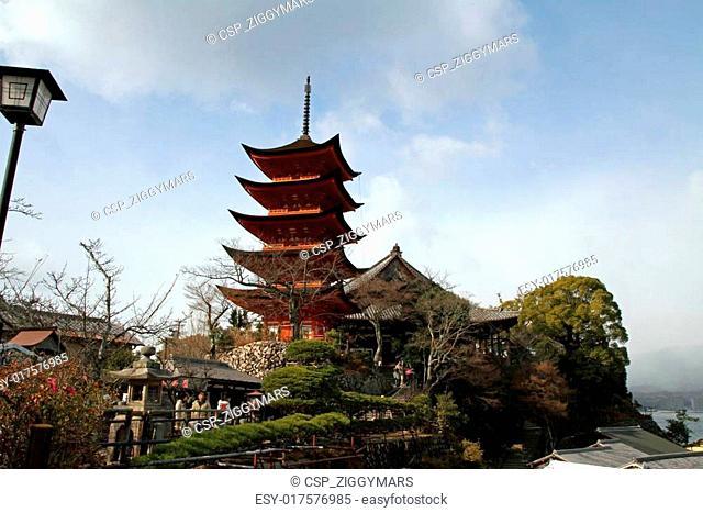 Five story pagoda of Itsukushima