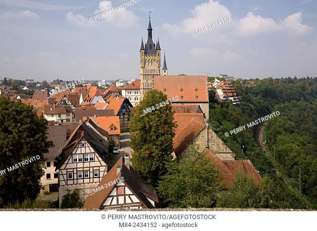 The Blue tower in the medieval town of Bad Wimpfen, Germany