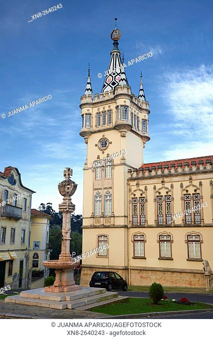 Exterior view of City Hall in Sintra, Portugal, Europe