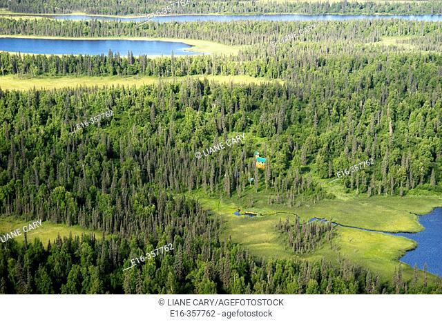 Alaska vast landscape. North of Talkeetna (north of Anchorage) on the way to Denali National Park. July 2005