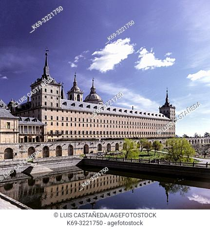 The Royal Site of San Lorenzo de El Escorial, commonly known as Monasterio del Escorial, is a historical residence of the King of Spain