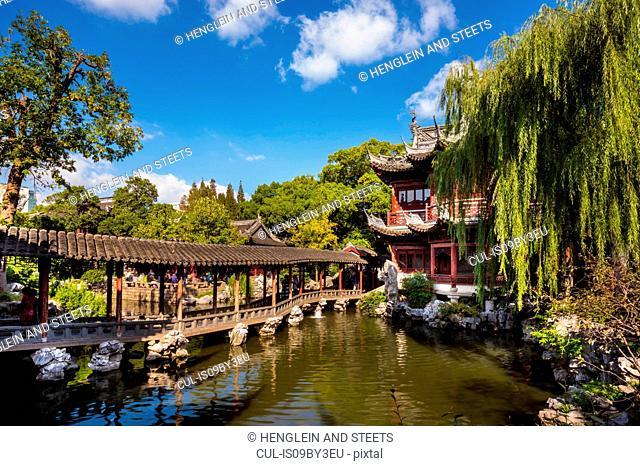 Pavilion of Listening to Billows in Yu Garden, Shanghai, China