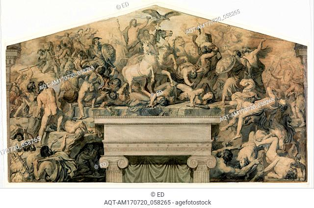 Drawings and Prints, Drawing Ornament & Architecture, Design for a Mural with the Battle between the Gods of Olympus and the Giants, Artist, Paul Chenavard