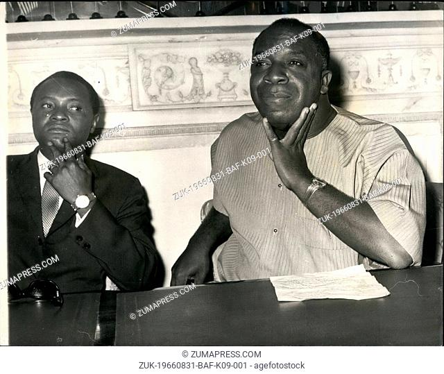 Aug. 31, 1966 - 31-8-66 The Prime Minister of Sierra Leone holds press conference in London ?¢'Ǩ'Äú Sir Albert Margai, the Prime Minister of Sierra Leone