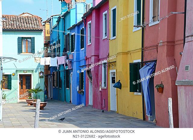 Burano, Venice, Veneto, Italy, Europe