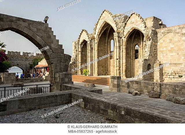 Rhodes, ruins of the church Panagia Kastru