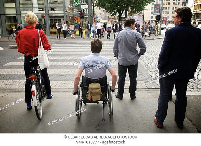Kayserlei street, Antwerp. Flanders, Belgium