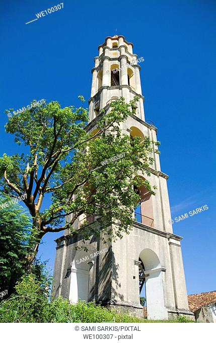 Iznaga Tower on the historic colonial sugar plantation at Manaca-Iznaga, Valley de los Ingenios, Cuba