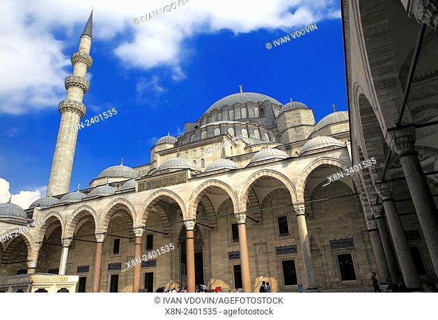 Suleymaniye mosque, architect Sinan (1557), Istanbul, Turkey