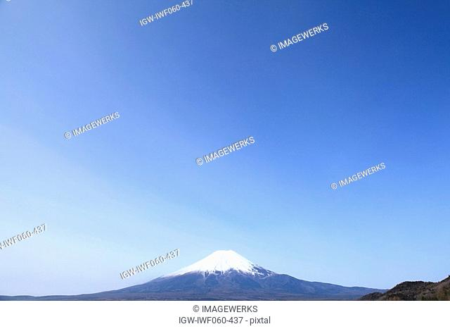 View of Mt. Fuji against clear sky