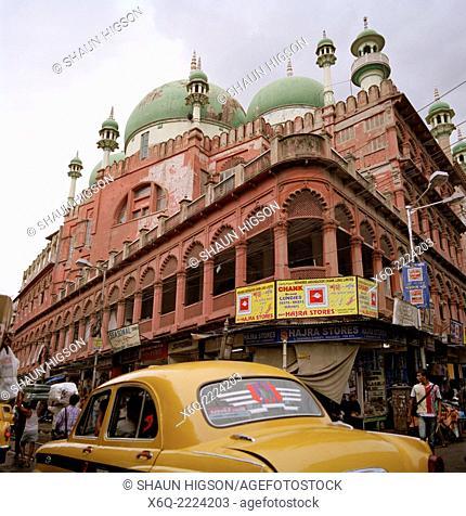 Nakhoda Mosque in Calcutta Kolkata in West Bengal in India in South Asia