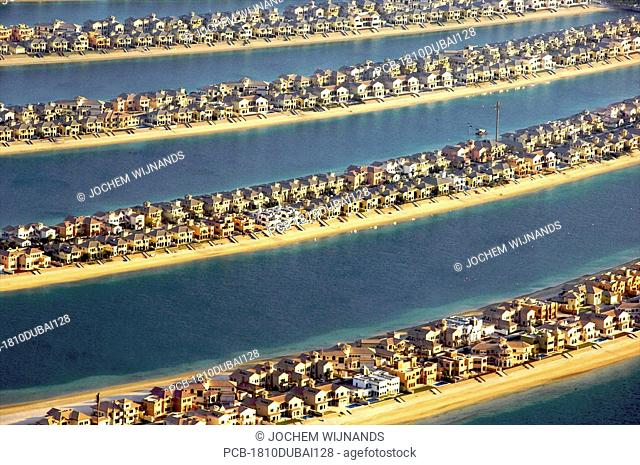 Dubai, Palm Jumeirah, manmade islands in the sea