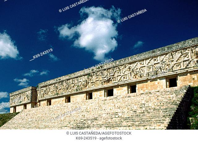 The Governor's palace in Uxmal. Yucatan. Mexico