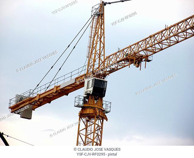 Crane, construction, City, Rio de Janeiro, Brazil