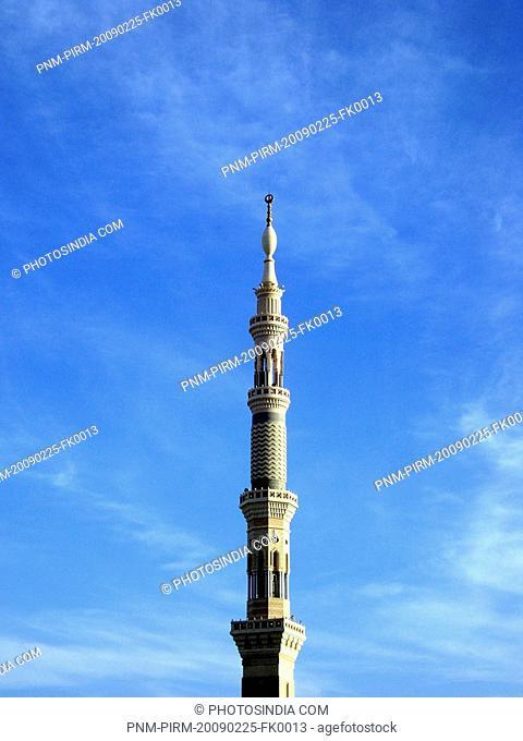 Minaret of a mosque, Al-Haram Mosque, Mecca, Saudi Arabia