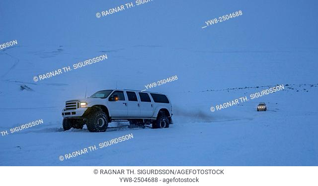 Super Jeep tour in the winter, Central Highlands, Iceland